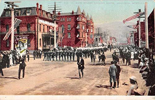 Anaconda Montana Main Street Patriotic Parade Vintage Postcard J926658