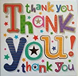 Multipack 36 Thank You cards & envelopes 5' x 5' - Stars & Colours