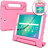 COOPER DYNAMO Kids case compatible with Galaxy Tab S2 8.0 | Shock Proof Heavy Duty Kidproof Cover for Kids | Girls Boys | Kid Friendly Handle Stand, Screen Protector | Samsung SM-T710 T715 T719 (Pink)