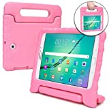 Samsung Galaxy Tab S2 9.7 case for kids [SHOCK PROOF KIDS TAB S2 CASE] COOPER DYNAMO Kidproof Child Tab S2 9.7 inch Cover for Girls, Boys | Kid Friendly Handle & Stand, Light, Screen Protector (Pink)