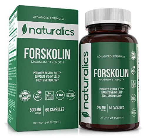 Naturalics™ - Forskolin Natural Appetite Suppressant & Metabolism Support - Non-GMO & Gluten Free, Appetite Suppressant, MAX Strength Belly Fat Burner, Carb Blocker, Weight Loss Supplement 60 Servings Cyclic Amp