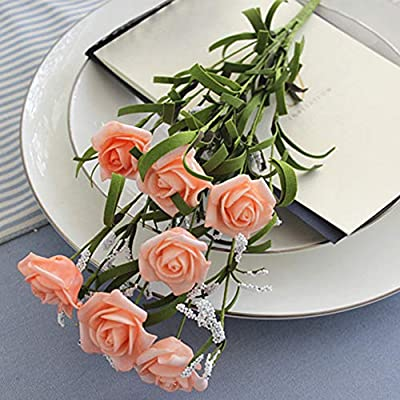 yongqxxkj Flores Artificiales, arreglos de Flores Falsas de Rosas ...