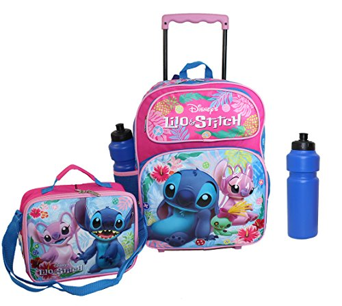 Disney's Lilo & Stitch Rolling Backpack w Lunch case