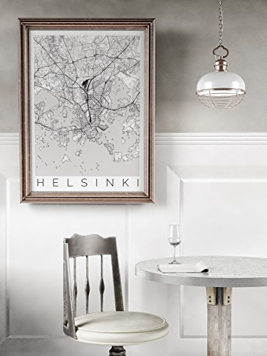 Map of Helsinki, Finland - Travel Home and Office - Delivery Uk Times Fedex