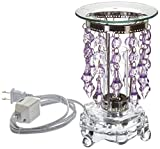 StealStreet SS-GC-MG-701LP Decorative Glass with Lavender Beads Electric Oil Aromatherapy Burner