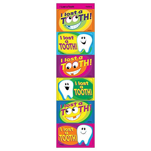 Trend Enterprises I Lost A Tooth Applause Stickers (30 Piece), (Lost Tooth)