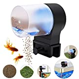 Automatic Fish Feeder Aquarium Tank Timer Feeder Vacation Auto Fish Feeder for Flakes Electric Automatic Turtle/Gold Fish for Weekend or Holiday with 2 Fish Food Dispensers