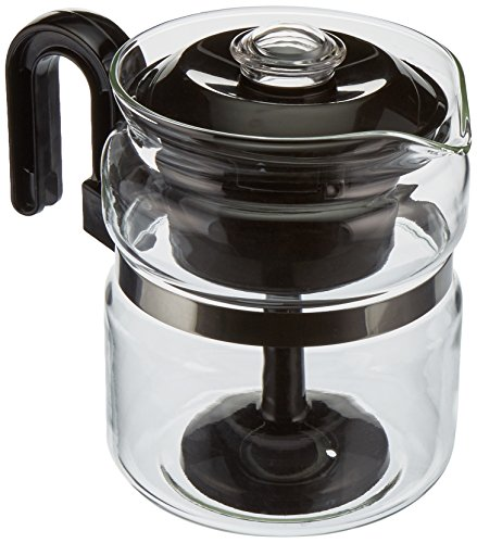 (Euro-Ware Perco Mate 8 Cup Glass Coffee/Hot Beverage Percolator with Metal Trivet, Clear)