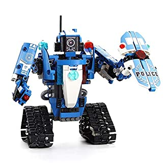 Toys Innovate STEM Building Set Remote Control Mega Transformer Engineering Kit Toy Building Blocks Sets for Boys and Girls 6-99 Year Old Cars 911 Robots Policemen and Firefighter