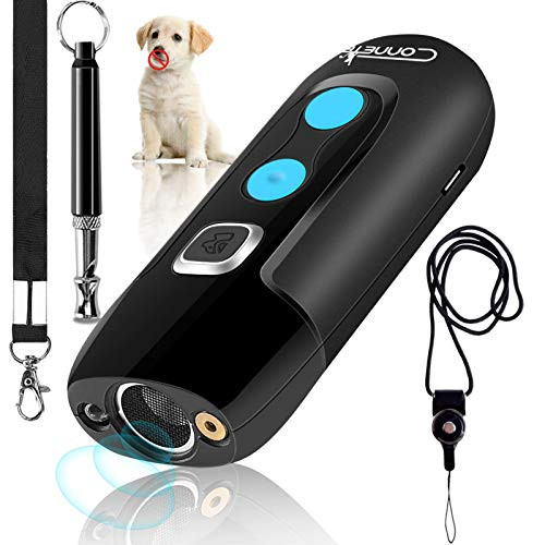 Ultrasonic Dog Barking Deterrent Devices, Rechargeable Bark Control Device, Safe Dog Sonic Repellents & Dog Whistle…