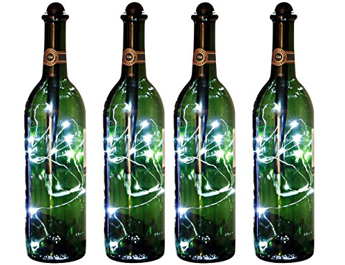 Light My Bottle Mini String Lighting Accessory Stick, Bright White (4 pack) by Fortune Products