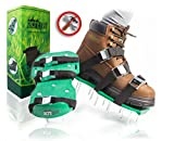 Kyпить Pre Assembled Lawn Aerator Shoes with 4 Adjustable Straps | Ready to Use Premium Grass Aeration Sandals with Heavy Duty Metal Buckles & Secure Steel Spikes | 4th Strap, Extra Hardware & Instructions на Amazon.com