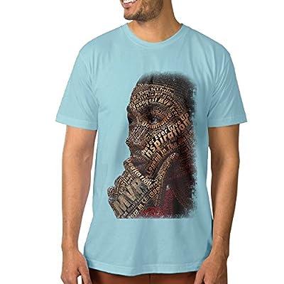 PTCYM Chicago B Basketball Rose Design Custom Men's Tshirts SkyBlue