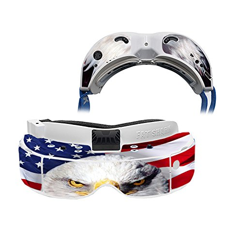 Price comparison product image MightySkins Skin Compatible with Fat Shark Dominator V3 - America Strong / Protective,  Durable,  and Unique Vinyl Decal wrap Cover / Easy to Apply,  Remove,  and Change Styles / Made in The USA