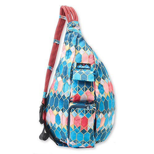 KAVU Women's Rope Sling Outdoor Backpacks, One Size, Stained Glass