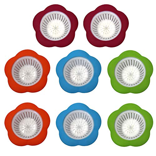 Plastic Kitchen Sink Basket Strainer Drain Filter Stopper,8-Pack