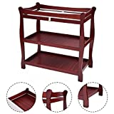 NYC STORES Cherry Sleigh Style Baby Changing Table Infant Newborn Nursery Diaper Station