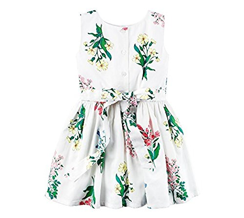 Floral Girls' 8 2T Sateen White Dress Carter's C6OqxvSwC
