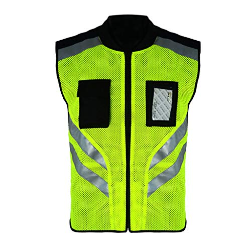 LBYMYB Reflective Jersey Mesh Breathable Outdoor Night Safety Jacket High Visibility Reflective Vest Reflective Vest Vest - Ride Mesh Jersey