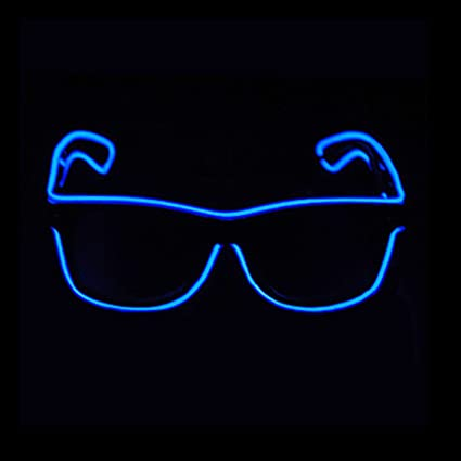 Apparel Accessories Men's Eyewear Frames Fashion Flashing El Wire Glasses Light Up Glowing Halloween Party Rave Costume