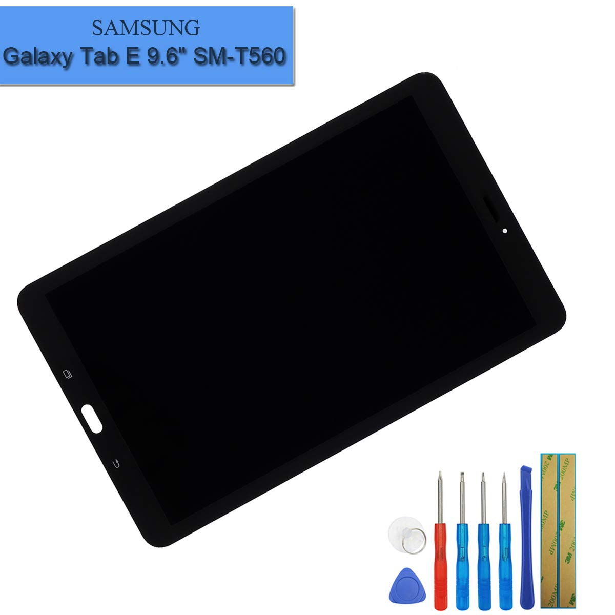 LCD Touch Screen Display Assembly Digitizer Compatible with Samsung Galaxy Tab E 9.6 SM-T560 T561 T567 LCD Display+ Tools
