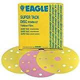 Eagle 524-1500 - 6 inch SUPER-TACK Yellow-Film Discs - 15 Holes - Grit P1500 - 50 discs/box