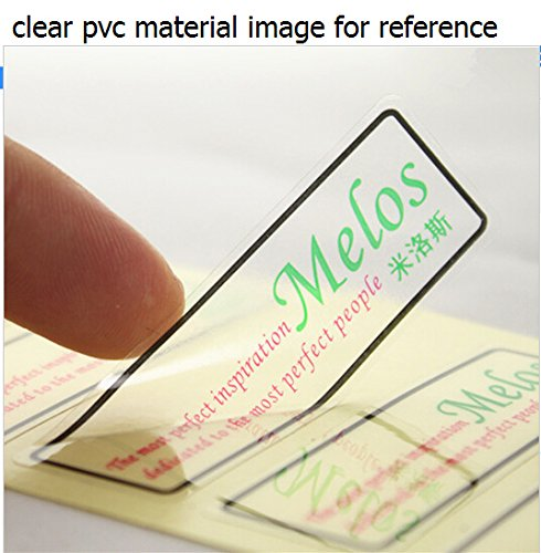 1000pcs Custom Rectabgle Transparent PVC Brand Labels, Customized Offset Printing Vinyl Labels