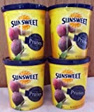 Sunsweet Pitted Prunes Net Wet 18 Oz (1 lbs 2 oz) 510g (Pack of 4)