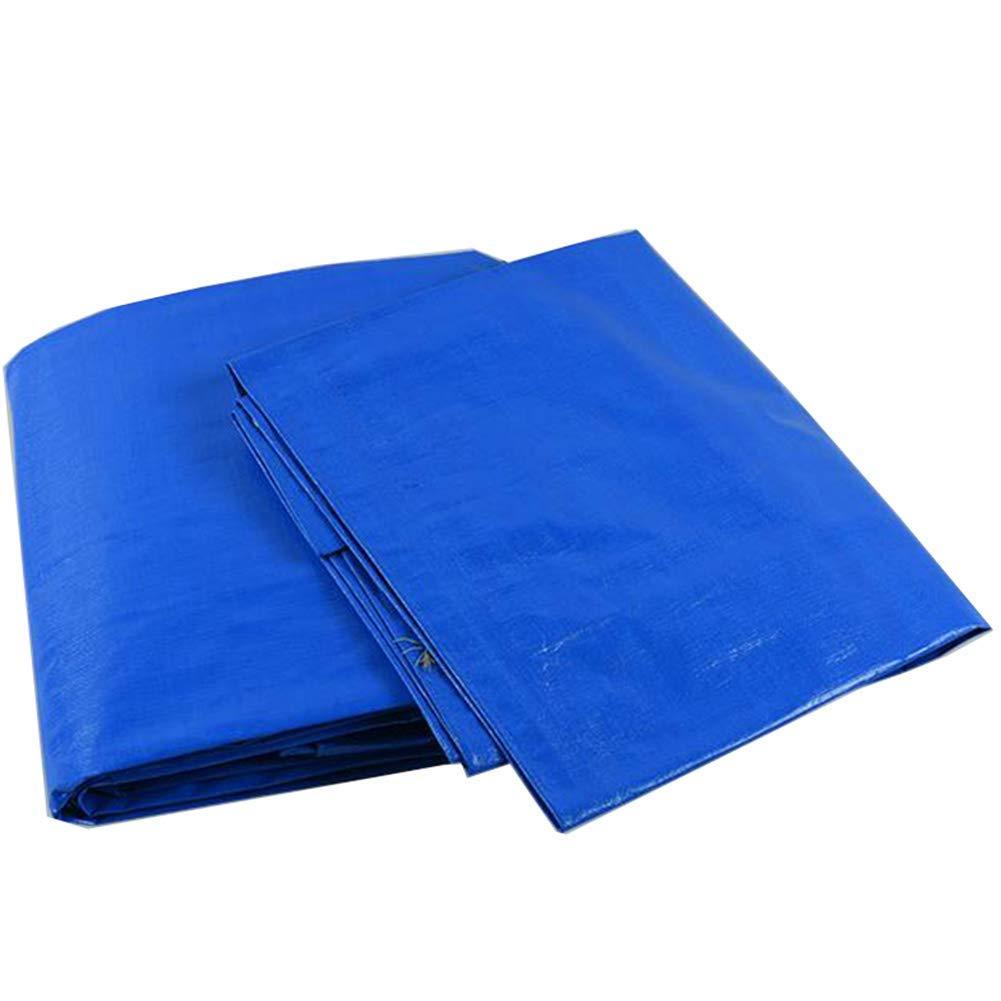 YHUJH Wasserdichte Plane Sunscreen Shade Covering The Rain Plastikplane für draußen, Blau Weiß (Größe   6  8cm)