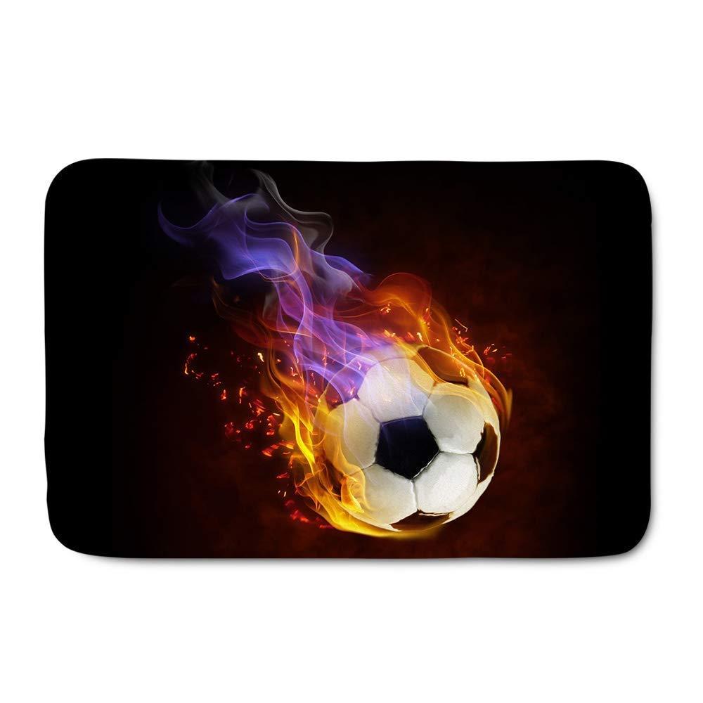 shanghaiyongyunshangwu Balón de fútbol de Moda Cubierto con Fuego ...