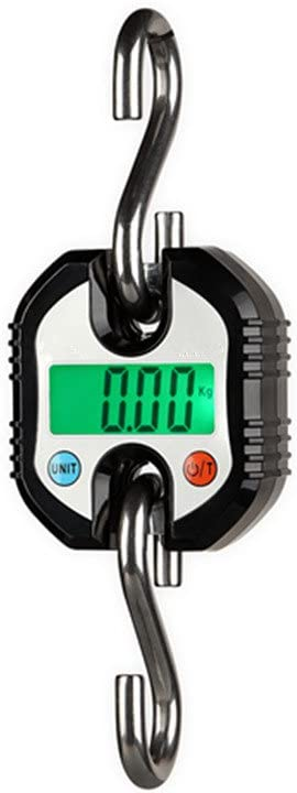 Klau Mini Crane Scale, Portable 150 kg 300 lb Heavy Duty Digital Hanging Scales LED Display with Backlight for Home Farm Hunting Outdoor Black