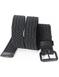 AK744 - Men's Casual Nautical Woven Braided Cotton Roller Buckle Belt (38mm)
