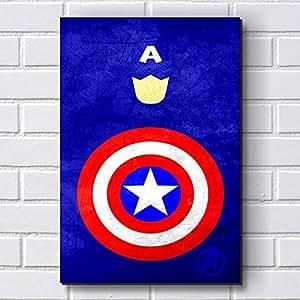 Placa Decorativa em MDF com 20x30cm - Modelo P23 - Capitão América - Vingadores