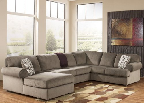 Jessa Place Dune Fabric Upholstery 3 Pc Sectional With Left Arm Facing Chaise (Raf Chaise Sectional)