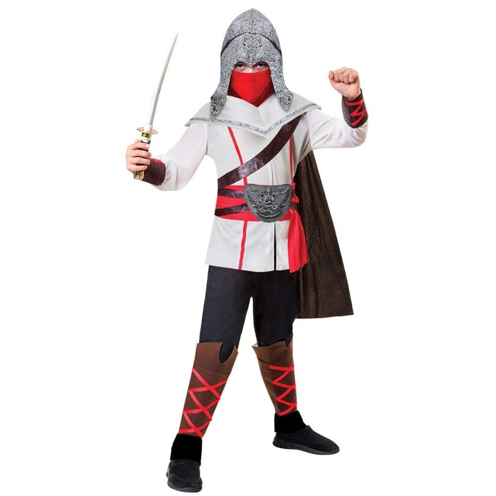 Assassin Ninja Costume - Age 8-10 Years: Amazon.es: Juguetes ...
