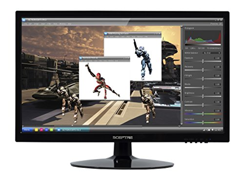 Sceptre E series E205W-1600 V1 20' Screen LED-Lit Monitor With HDMI, DVI and VGA Ports