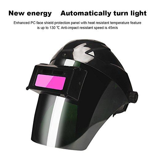 Auto Darkening Welding Helmet Front Flip Welder Mask (Black - You Coupon Goggles 4