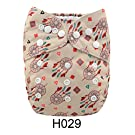 Alva Baby New Design Reuseable Washable Pocket Cloth Diaper Nappy + 2 Inserts H029