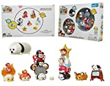 Jakks Pacific Tsum Tsum LIMITED EDITION Gift Set - Exclusive - A Collection of Your Favorite Disney Characters In Tree Different Sizes & Accessories, SPECIAL EDITION Black & White Pluto - 24 Pieces.
