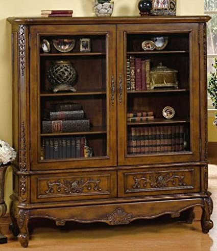 Heirloom Double Bookcase With Glass Doors, GLASS-DOOR, ANTIQUE OAK - Amazon.com: Heirloom Double Bookcase With Glass Doors, GLASS-DOOR