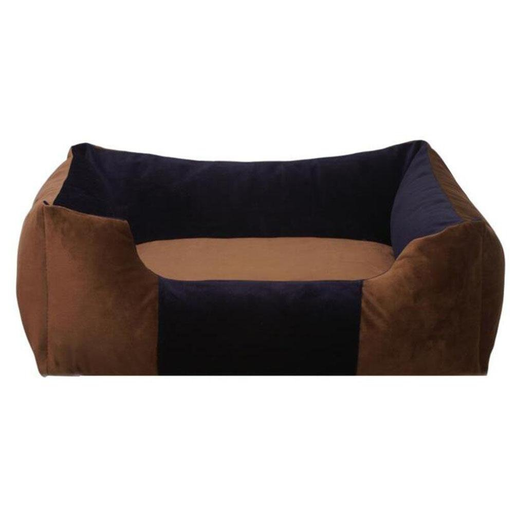 Dark brown l dark brown l WYXIN Deluxe Coffee color Dog Bed Cat Pet Pillow 63  43  18CM for Medium and Small Dogs, Using Fur Velvet, Oxford Frabric, Detachable and Washable , dark brown , l