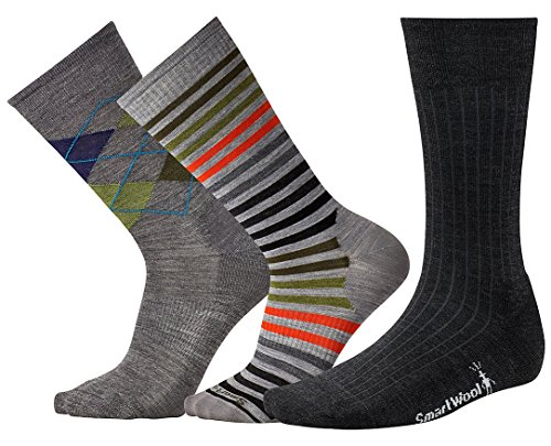 SmartWool Men's Trio 1 (Multi Color) Large (Classic Rib Sock Smartwool)