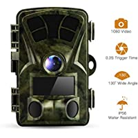 DECOMEN Trail Camera16MP1080P Game&Hunting Camera 65ft night vision infrared surveillance camera ,IP56 Waterproof for Wildlife Monitoring with 16G SD Card
