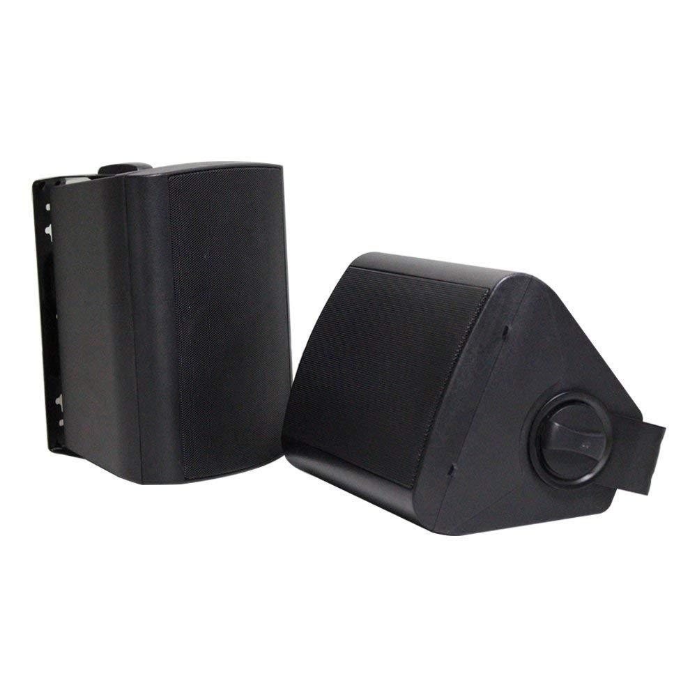 Herdio 4 Inches Outdoor Indoor Patio Bluetooth Wall Mount Speakers Waterproof (Black) by Herdio