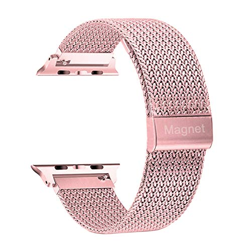 Compatible with 38mm 40mm Apple Watch Band Stainless Steel Replacement Band for Series 4 Series 3 Series 2 Series 1 Rose Gold Pink (Band Watch 40mm)