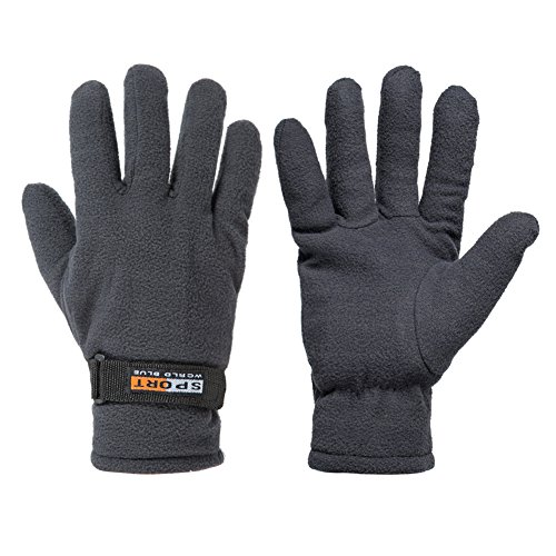 GLOUE Winter Gloves Winter Keep Warm Soft Fleece Lined Gloves Multiple Color for Men & Women