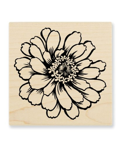 STAMPENDOUS Wood Handle Stamp, Zinnia