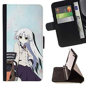 Momo Phone Case / Flip Funda de Cuero Case Cover - Anime Girl;;;;;;;; - Sony Xperia Z5 5.2 Inch (Not for Z5 Premium 5.5 Inch)