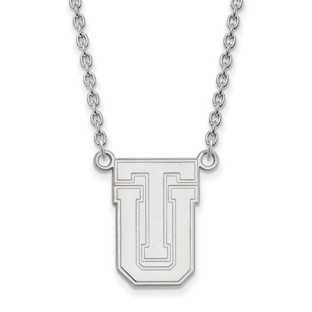 Mia Diamonds 925 Sterling Silver LogoArt The University of Tulsa Large Pendant with Necklace