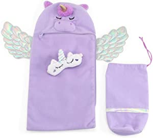 Emily Rose 14-Inch Doll Accessories   Adorable Unicorn Doll Sleeping Bag with Unicorn Sleeping Mask   Fits Wellie Wishers and Glitter Girls Dolls